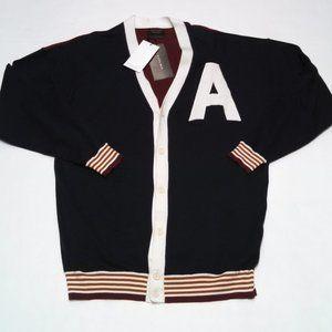 Zara Man Sweater College Cardigan Button Front